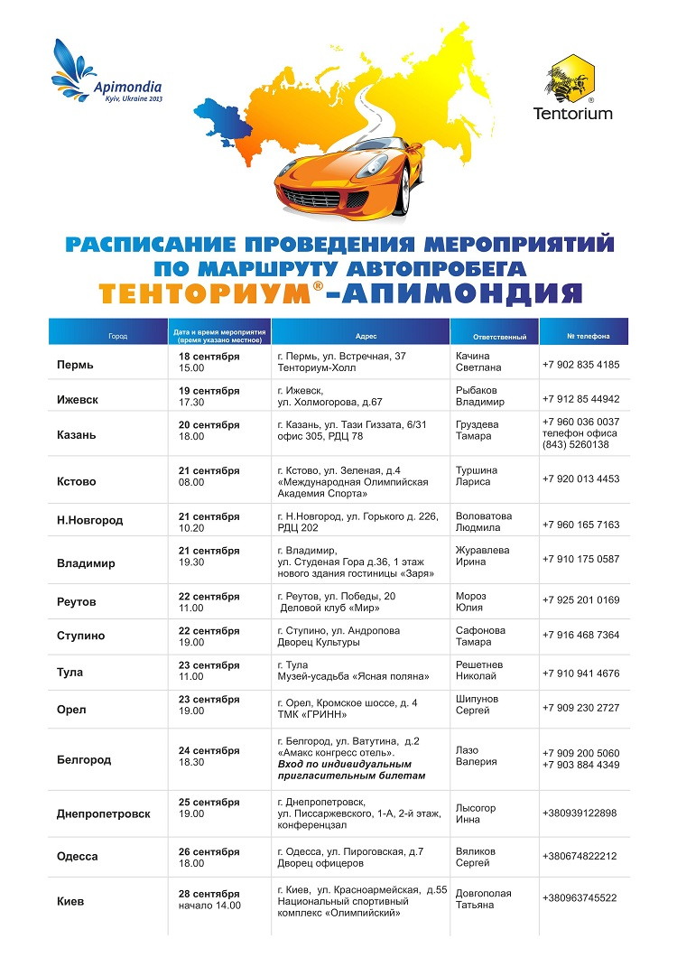 Автопробег Тенториум Россия-Украина